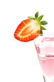 Strawberry cocktail with ice cube Stock Image