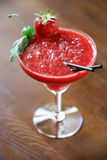 Strawberry cocktail Margarita Stock Photography