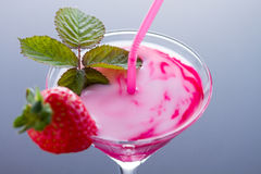 Strawberry cocktail with mint Royalty Free Stock Images