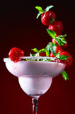 Strawberry cocktail with  peppermint leaves Royalty Free Stock Image