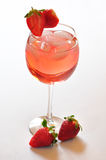 Strawberry cocktail. A wonderful refreshment cocktail, Strawberry paradise stock image