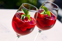 Strawberry Cocktails stock images