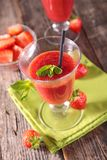 Strawberry cold soup Stock Photo