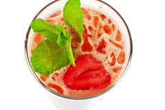 Strawberry cold tea Stock Photography