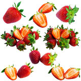 Strawberry collage Stock Photo
