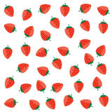 Strawberry color red vector on a white Stock Image