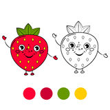 Strawberry. Coloring book page Royalty Free Stock Image