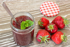 Strawberry confiture Stock Image