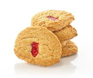 Strawberry cookies Stock Image
