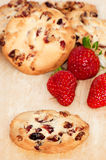 Strawberry cookies Royalty Free Stock Images