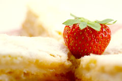 Strawberry and Cookies. Strawberry and homemade cookies abstract royalty free stock photos