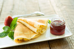 Strawberry crêpe Royalty Free Stock Photography