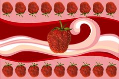Strawberry and cream Royalty Free Stock Image