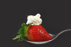 Strawberry and cream stock images