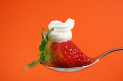 Strawberry and cream Royalty Free Stock Photography