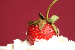 Strawberry and cream Stock Photo