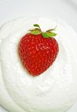 Strawberry with cream Stock Images