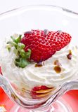 Strawberry with cream Stock Photography