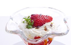 Strawberry with cream Royalty Free Stock Image