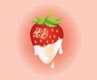 Strawberry and Cream Stock Photos