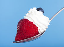 Strawberry and cream Stock Photos