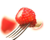 Strawberry & Cream Royalty Free Stock Photography