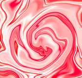 Strawberry cream abstract background. Mesh liquid surface digital illustration. Marble stone texture with red and white paint drips. Beautiful pattern of Stock Images