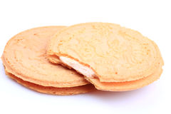 Strawberry cream biscuit Royalty Free Stock Photography