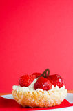 Strawberry and cream Cake Royalty Free Stock Image