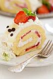 Strawberry cream cake Stock Photo