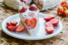 Strawberry cream cake Royalty Free Stock Photos