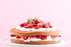 Strawberry cream cake Stock Photography