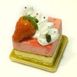 Strawberry cream Cake. In pure white background Stock Image
