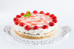 Strawberry cream cheese cake  as Cut Stock Photo