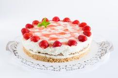 Strawberry cream cheese cake  as Cut Stock Photo