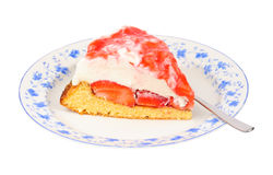 Strawberry cream-cheese cream torte Stock Image