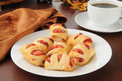 Strawberry cream cheese strudels Royalty Free Stock Images