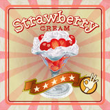 Strawberry Cream Cream Stock Photo