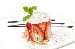 Strawberry Cream Dessert Royalty Free Stock Photography