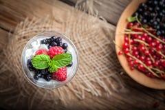 Strawberry cream dessert. Stock Photos