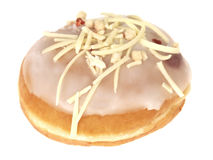 Strawberry and Cream Doughnut Royalty Free Stock Photos