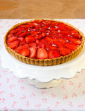 Strawberry and cream filling tart Stock Images