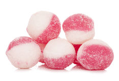 Strawberry and cream hard boiled sweets Royalty Free Stock Image