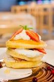 Strawberry cream pancake Stock Photography