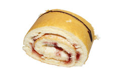 Strawberry cream roll Stock Photography