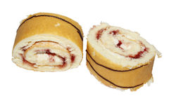 Strawberry cream rolls Royalty Free Stock Photo