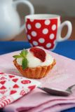 Strawberry and cream tart Royalty Free Stock Images