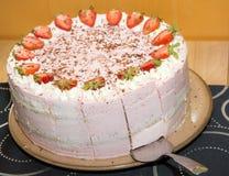 Strawberry cream tart Stock Images