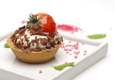 Strawberry and cream tartlet Stock Photography