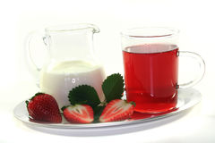 Strawberry cream tea Royalty Free Stock Photography